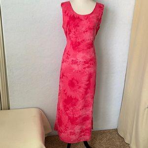 REAL Pink Daisy Floral Sleeveless Maxi Dress